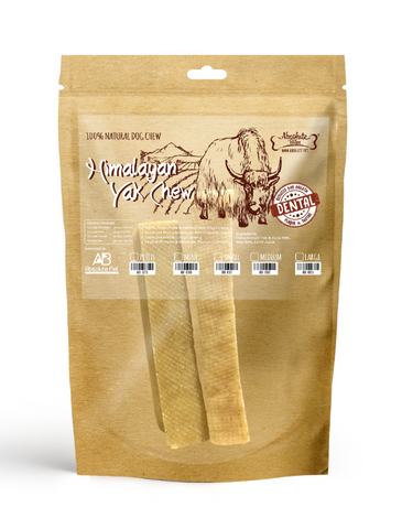 Absolute Bites Himalayan Yak Dental Sticks Dog Treats (3 Sizes) | Perromart Online Pet Store Singapore