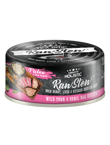 Absolute Holistic Rawstew Tuna & Quail Egg Pet Wet Food 80g | Perromart Online Pet Store Singapore
