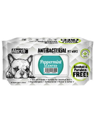 Absorb Plus AntiBacterial PetWipes 80pcs (Peppermint) | Perromart Online Pet Store Singapore
