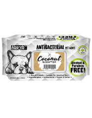 Absorb Plus AntiBacterial Pet Wipes 80pcs (Coconut) | Perromart Online Pet Store Singapore