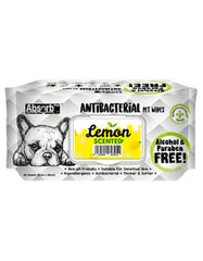 Absorb Plus AntiBacterial Pet Wipes 80pcs (Lemon) | Perromart Online Pet Store Singapore