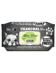 Absorb Plus Charcoal Pet Wipes 80pcs (Aloe Vera) | Perromart Online Pet Store Singapore
