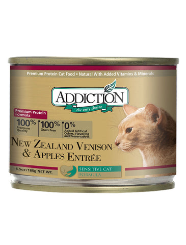 [CLEARANCE] Addiction Venison & Apples Canned Cat Food 185g