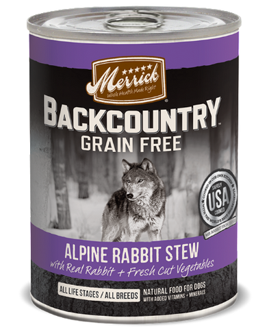 Merrick Backcountry Alpine Rabbit Stew - 360g | Perromart Online Pet Store Singapore