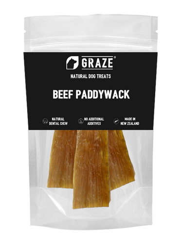 Graze NZ Natural Odorless Beef Paddywack Dog Chew 110g