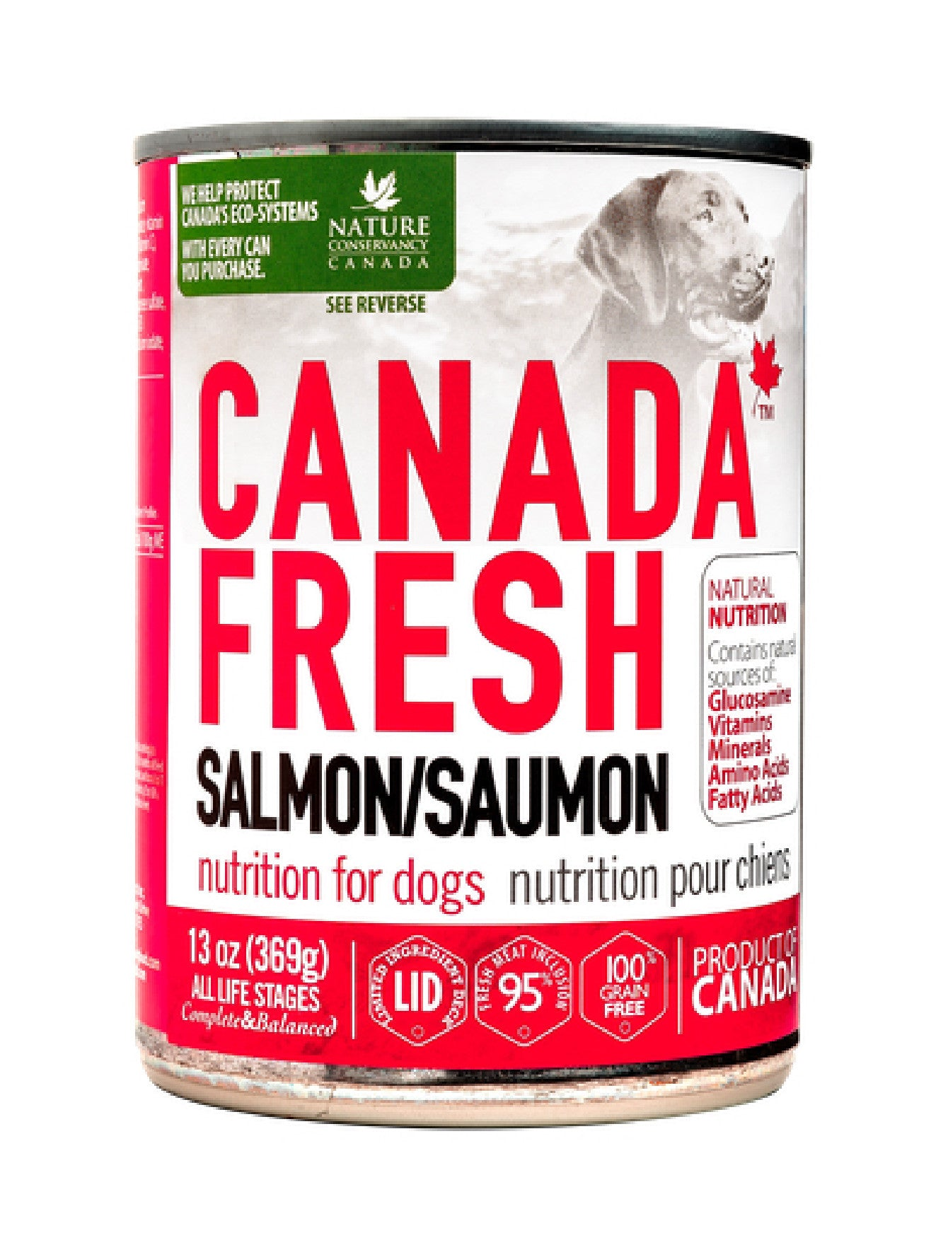 Canada Fresh Salmon Dog Wet Food 369g | Perromart Online Pet Store Singapore