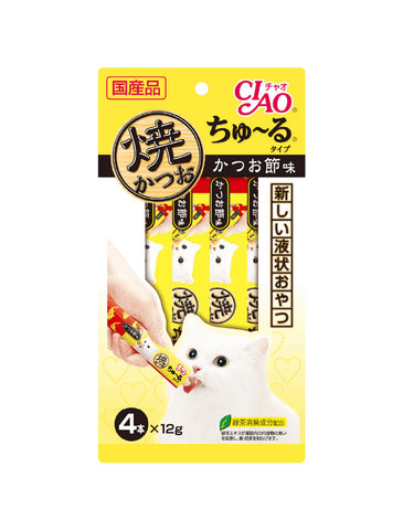 Ciao Grilled Tuna Chu Ru Dried Bonito Flavour Cat Treats | Perromart Online Pet Store Singapore