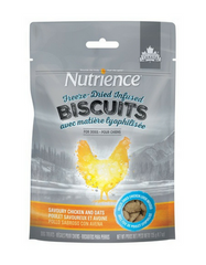 [SALE] [PRICES REDUCED] Nutrience Freeze-Dried Infused Biscuits Savoury Chicken & Oats Dog Treats 135g