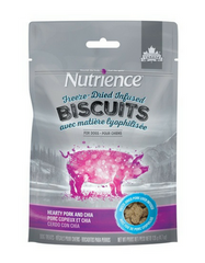 [SALE] Nutrience Freeze-Dried Infused Biscuits Hearty Pork & Chia Dog Treats 135g