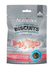 [SALE] [PRICES REDUCED] Nutrience Freeze-Dried Infused Biscuits Succulent Salmon & Sesame Dog Treats 135g