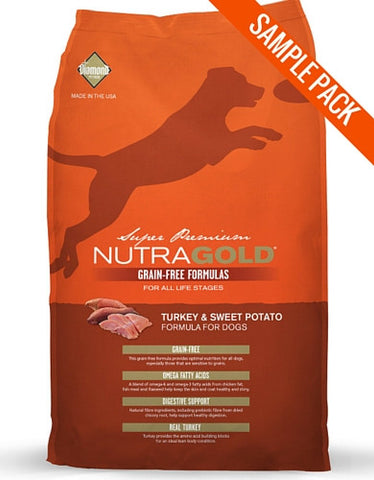 Nutragold Grain Free Turkey and Sweet Potato Dry Dog Food Sample - Perromart