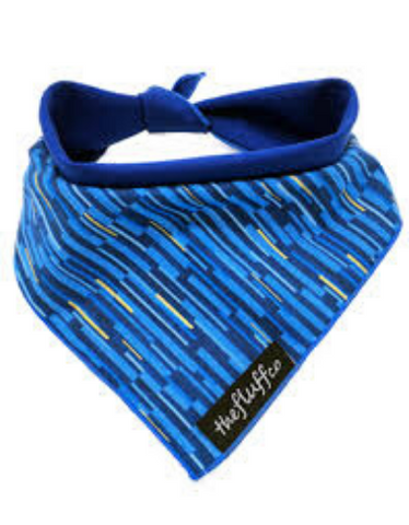 The Fluff Co. Classic Tie Reversible Scarf Bandanna Streaks (2 Sizes)