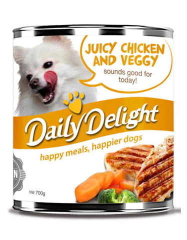 Daily Delight Juicy Chicken and Veggy Canned Dog Food | Perromart Online Pet Store Singapore