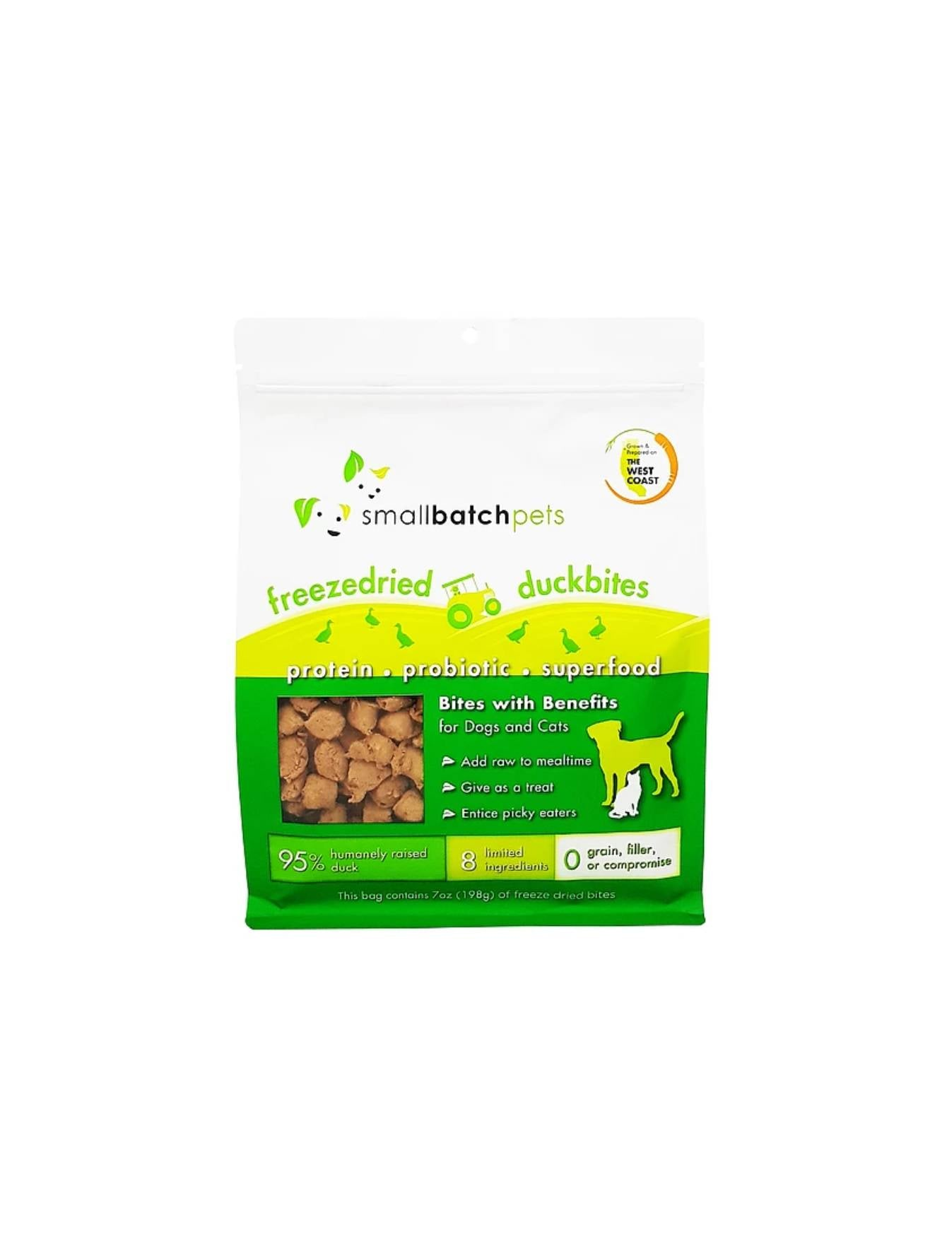 Small Batch Freeze Dried Duck Bites Dog & Cat Treat | Perromart SG