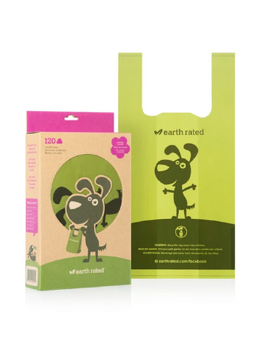 Earth Rated® 120 Easy-Tie Handle Poop Bags - Scented | Perromart Online Pet Store Singapore