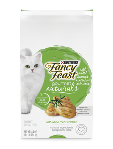 Fancy Feast Gourmet Naturals White Meat Chicken Dry Cat Food (2 Sizes) | Perromart Online Pet Store Singapore