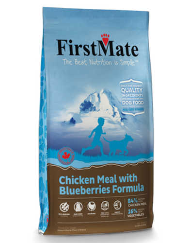 FirstMate Normal Bites Chicken with Blueberries Grain & Gluten Free Dry Dog Food | Perromart Online Pet Store