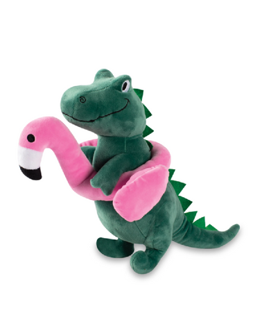 Fringe Studio Flamingo Fun Rex, Squeaky Plush Dog Toy (Large) | Perromart Online Pet Store Singapore