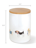 Fringe Studio Happy Breeds Dog Treat Ceramic Jar | Perromart Online Pet Store Singapore