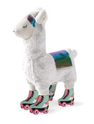 Fringe Studio Llama On Roller Skates Dog Squeaky Plush Toy | Perromart Online Pet Store Singapore