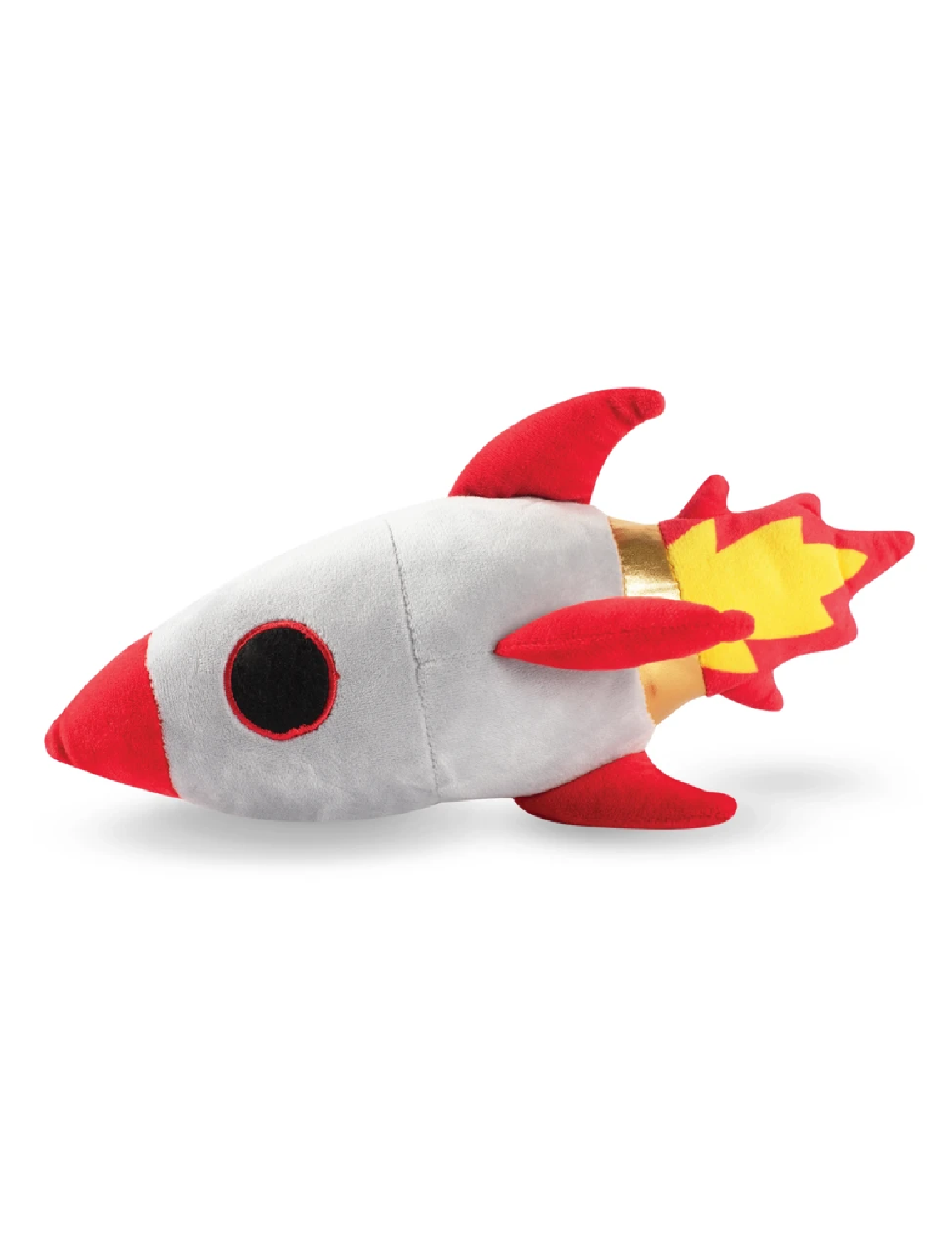 Fringe Studio Space Mission Rocket Ship Dog Squeaky Plush Toy | Perromart Online Pet Store Singapore