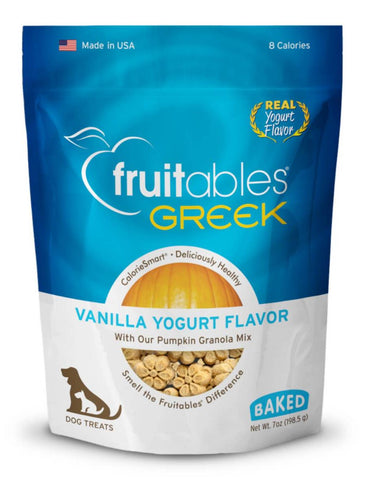 Fruitables Greek Vanilla Yogurt Flavor Crunchy Dog Treats | Perromart Online Pet Store Singapore