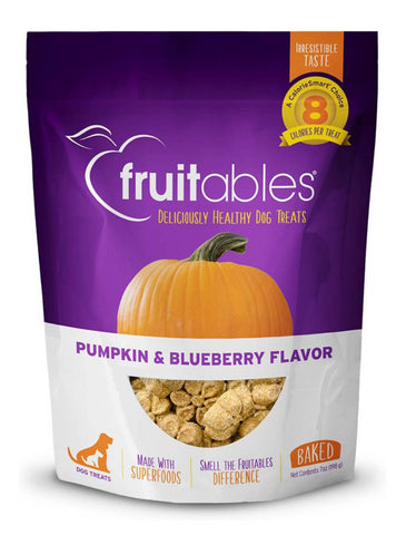 Fruitables Pumpkin & Blueberry Dog Treats | Perromart Online Pet Store Singapore