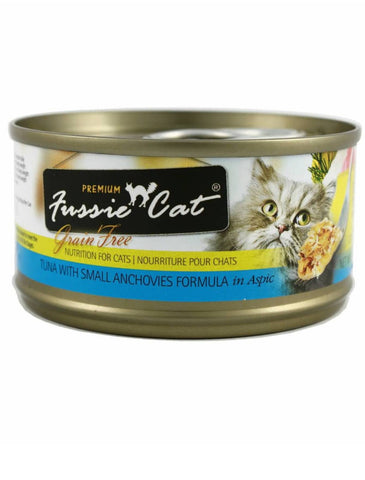 Fussie Cat Premium Black Label Tuna with Small Anchovies Cat Wet Food 80g | Perromart Online Pet Store Singapore