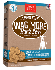 [TREATS SALE] [PRICES REDUCED] Cloud Star Wag More Bark Less Oven-Baked Grain Free Smooth Aged Cheddar 396g