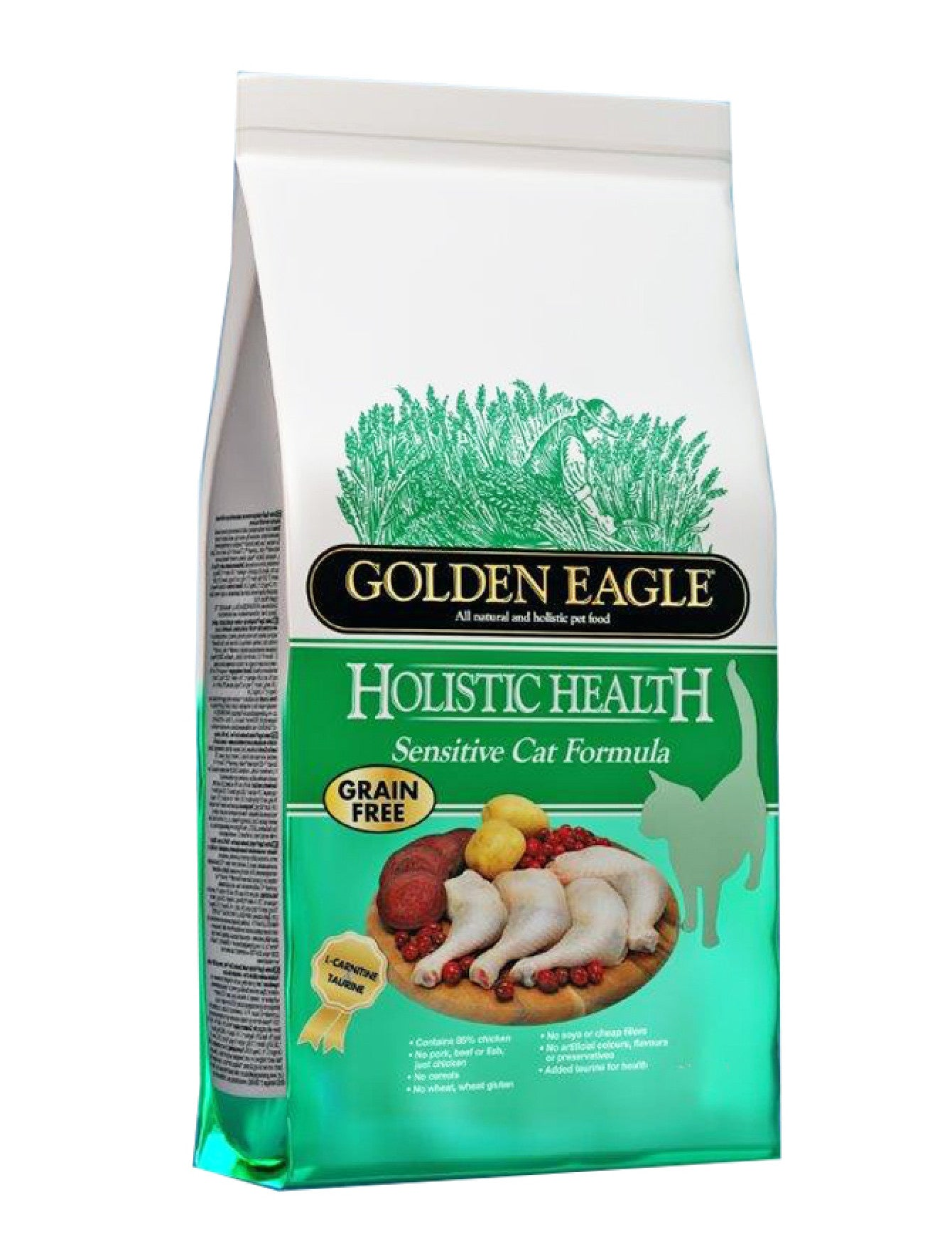 Golden Eagle Holistic Sensitive Grain Free Cat Dry Food 2kg | Perromart Online Pet Store Singapore