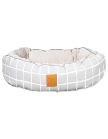 Mog & Bone 4 Seasons Reversible Bed Grey Check Print For Dog Small | Perromart Online Pet Store Singapore