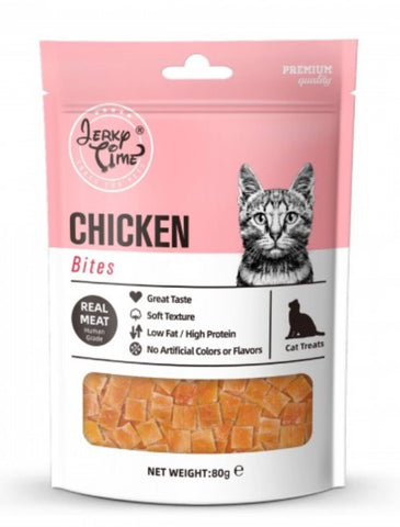 Jerky Time Dried Chicken Jerky Bites Cat Treat 80g | Perromart Online Pet Store Singapore