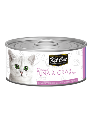 Kit Cat Deboned Tuna & Crab Toppers Canned Cat Food 80g | Perromart Online Pet Store Singapore
