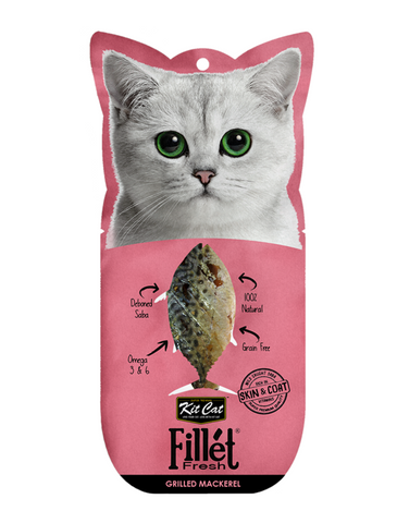 Kit Cat Fillet Fresh Grilled Mackerel Cat Treat | Perromart Online Pet Store Singapore