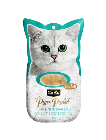 Kit Cat Purr Puree Tuna & Fiber (Hairball) Cat Treat | Perromart Online Pet Store Singapore