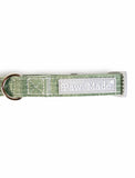 Paw Made Essentials Bamboo Fabric Buckle Collar Green for Pets 3 sizes