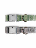Paw Made Essentials Bamboo Fabric Buckle Collar Grey for Pets 3 sizes | Perromart Online Pet Store Singapore