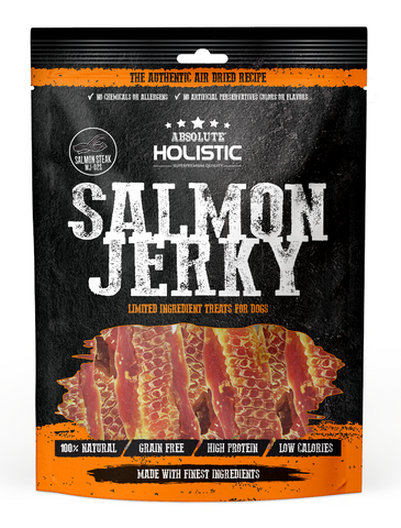 Absolute Holistic Grain Free Salmon Steak Jerky Treats 100g | Perromart Online Pet Store Singapore