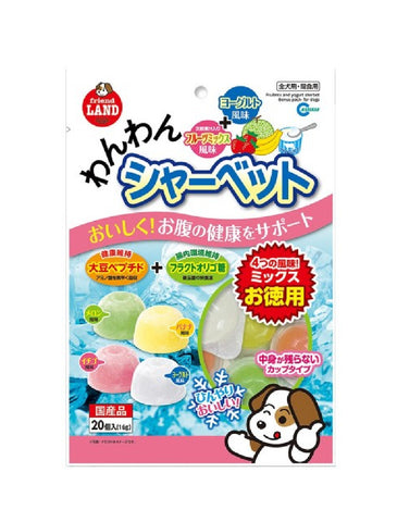 Marukan Fruits Mix and Yogurt Sherbet Bonus Pack for Dogs 20x16g | Perromart Online Pet Store Singapore