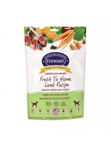 Stewart Raw Naturals Lamb Dog Freeze Dried Food 3 Sizes | Perromart Online Pet Store Singapore