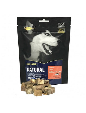 Salmon4Pets Freeze Dried Yellow Fin Tuna for Dog Treat 57g | Perromart Online Pet Store Singapore