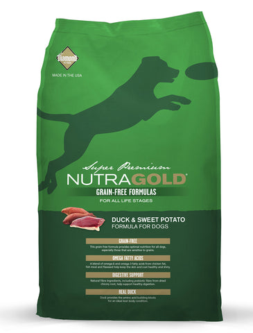 NutraGold Grain Free Duck & Sweet Potato Dry Dog Food | Perromart Online Pet Store Singapore