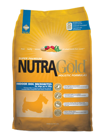 NutraGold Holistic Indoor Adult Microbites Dry Dog Food | Perromart Online Pet Store Singapore