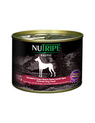 Nutripe Exotic Angus Beef & Green Tripe w Berries Canned Dog Food 175g | Perromart Online Pet Store Singapore