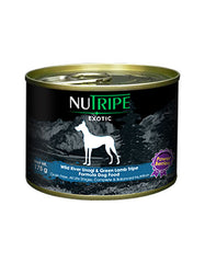 Nutripe Exotic Unagi & Green Tripe Dog w Berries 175g | Perromart Online Pet Store Singapore