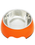 Paws & Pal Feed Pal Stainless Steel Feeding Bowl For Dog Orange (2 Sizes)