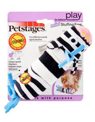 Petstages Small Squeaky Zebra Dog Toy | Perromart Online Pet Store Singapore