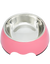 Paws & Pal Feed Pal Stainless Steel Feeding Bowl For Dog Pink (2 Sizes)
