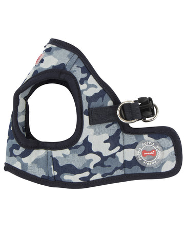 Puppia Navy Camo Bobby Vest Harness for Dogs (3 Sizes) | Perromart Online Pet Store Singapore