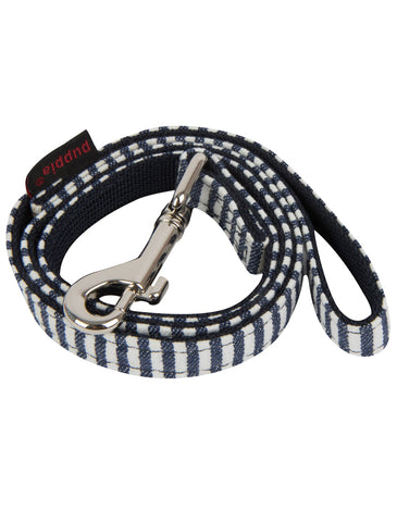 Puppia Stripped Navy Bobby Lead for Dogs (2 Sizes) | Perromart Online Pet Store Singapore